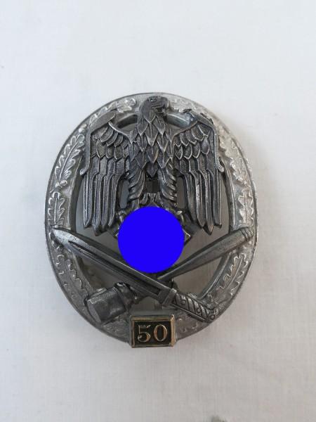 Wehrmacht Allgemeines Sturmabzeichen mit Einsatzzahl 50