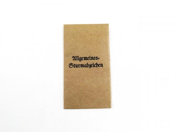 Verleihungstüte für Allgemeines Sturmabzeichen (418)