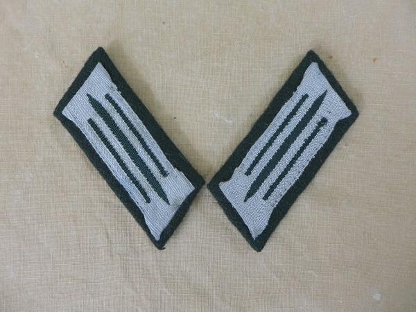 Wehrmacht Einheitskragenspiegel Heer Mannschaften auf M36 Unterlage
