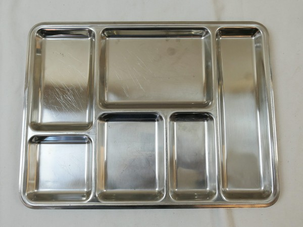 Army Mess tray Esstablett Tablett REPPEL MASSIF 18/8 original