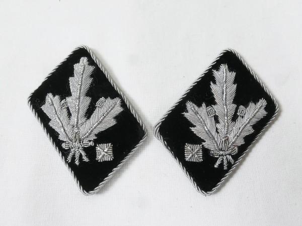 Waffen Elite Paar Kragenspiegel SS Gruppenführer und Generalleutnant