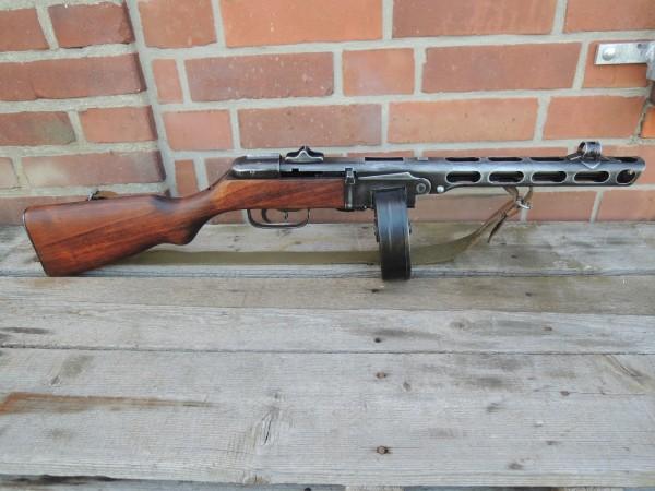 Russische PPsH 41 Maschinenpistole Dekomodell Antik Finish mit Tragegurt + Magazin