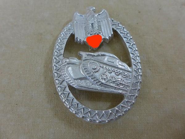 Wehrmacht Auflage für Schützenschnur Silber Panzertruppe