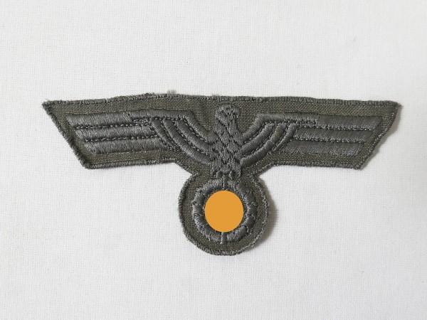 Wehrmacht Brustadler Mannschaften gestickt für M40 Drillich / Südfrontausführung original