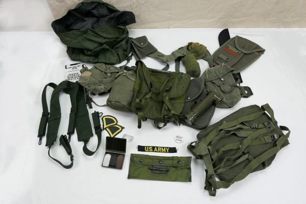 Typ M-1956 webbing US Army Vietnam Sturmgepäck - Pistol Belt Bags Pouches Cover Torch Patches #4