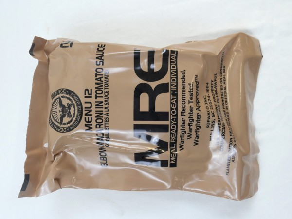 US Army MRE Menue 12 / Meal - Ready to eat Individual inspiziert bis 11/2019