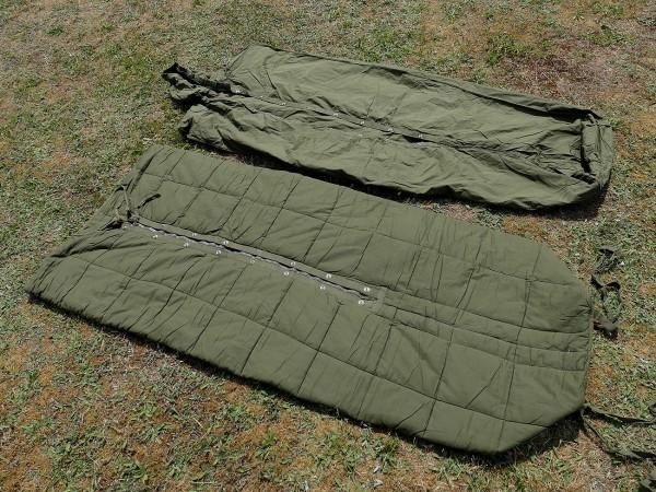 US Vintage Armee Korea Vietnam Schlafsack mit Hülle / sleeping bag + cover TYP2