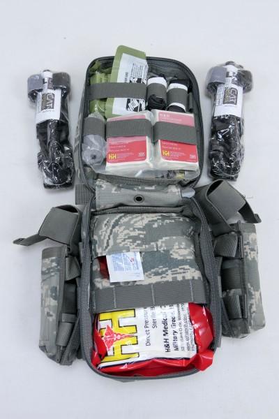 USAF JOINT FIRST AID KIT MEDIC IFAK + 2x Cat Tourniquet + Quikclot Combat Gauze + Taschen