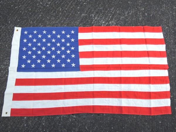 USA Fahne flag 50 Sterne gestickte Sterne, 90 x 150 cm Vintage look mit Metallösen zum Aufhängen