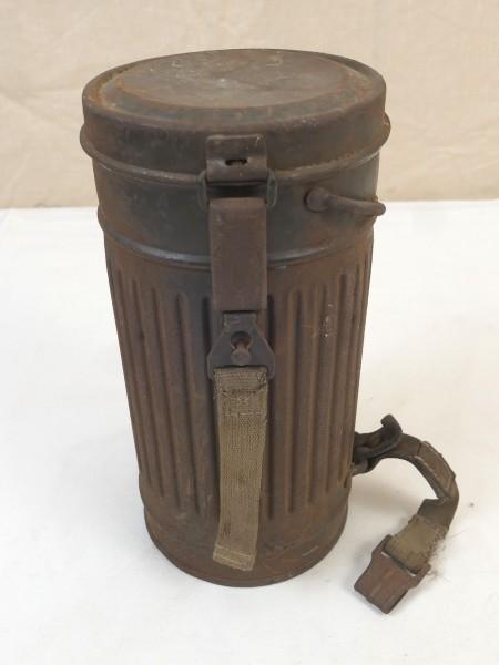 Original Wehrmacht Gasmaskendose Schutzmaskenbüchse 1937 WK2