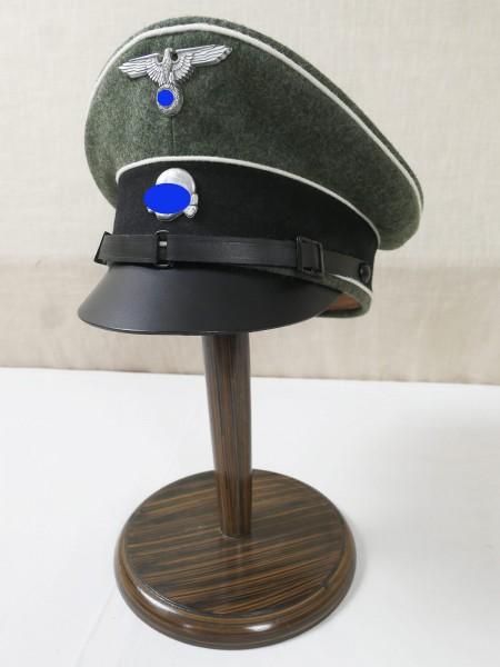 WSS Schirmmütze Gr. 57 Waffen Elite mit Effekten Adler u. Totenkopf