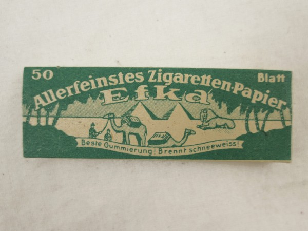 Wehrmacht Zigaretten Papier Efka 50 Blatt Drehpapier