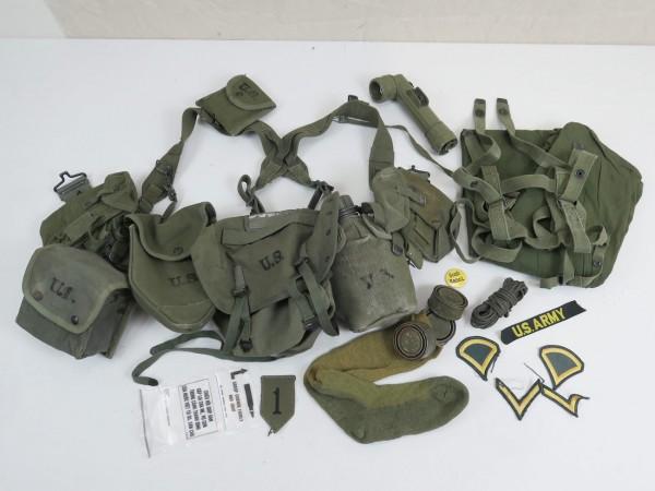Typ M-1956 webbing US Army Vietnam Sturmgepäck - Pistol Belt Bags Pouches Cover Torch Patches uvm-Co