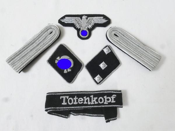 WSS Satz Effekten Abzeichen Waffen Elite Ärmelband Totenkopf Kragenspiegel für Untersturmführer