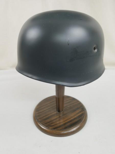 WK2 LW Fallschirmjägerhelm Stahlhelm M38 Luftwaffe Glocke blaugrau 57/58