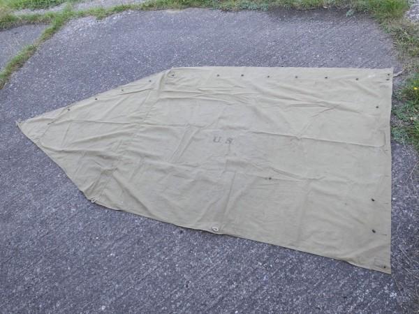 US Army Zeltbahn shelter Zeltplane 1942 Original tent shelter half
