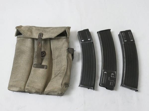 Wehrmacht STGW Sturmgewehr MP 44 Magazintasche + 3x DENIX Magazin StGw44 Volkssturm 1945