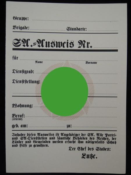 SA Ausweis