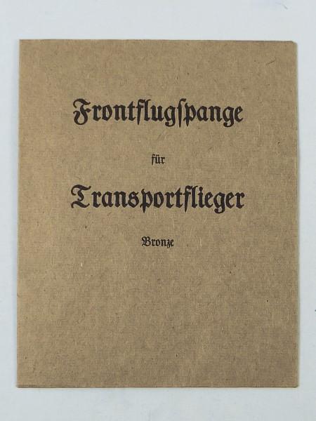 """Verleihungstüte """" Frontflugspange für Transportflieger in Bronze """""""