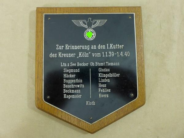 Aus U-Boot Nachlass - Zur Erinnerung an den I.Kutter des Kreuzer KÖLN 1939/40 Ltn. z. See Becker Wan