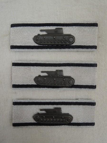 Wehrmacht 3x Panzervernichtungsabzeichen Stufe silber