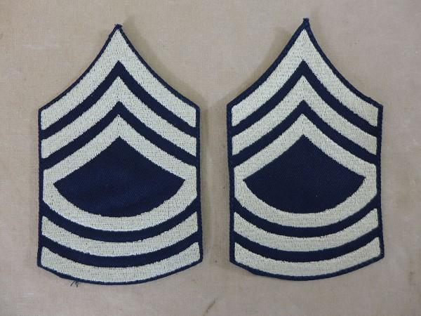 US ARMY WW2 Ranks Dienstgradabzeichen M/Sgt Master Sergeant Uniform Rang Abzeichen