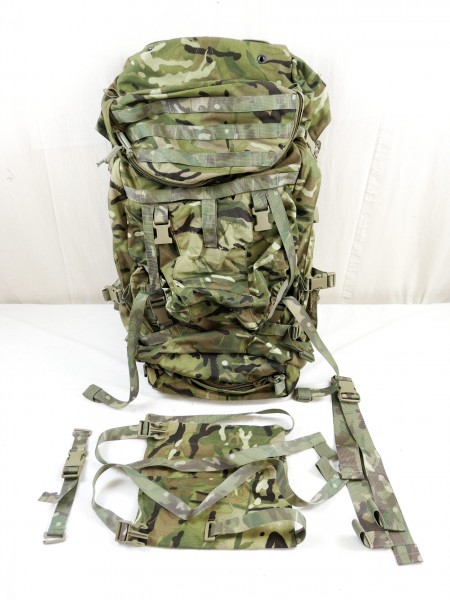 DFM14 Trekking Outdoor Rucksack 90L GU BERGEN Multicam Backpack GB Army 2016