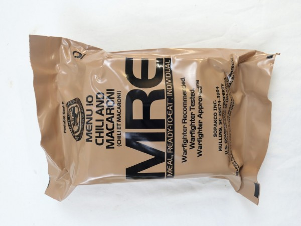 US Army MRE Menue 10 / Meal - Ready to eat Individual inspiziert bis11/2019