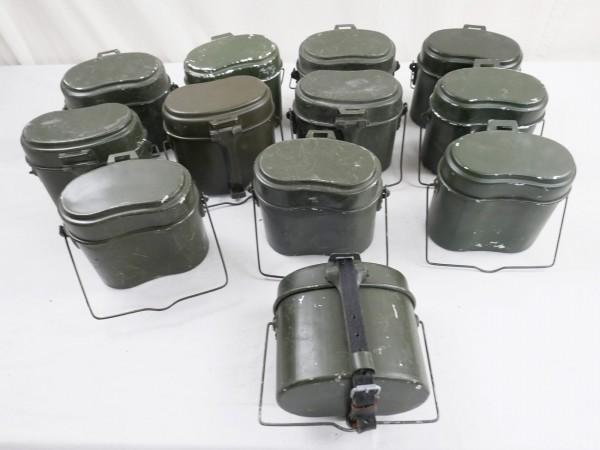 Typ Wehrmacht Eßgeschirr Kochgeschirr mit Beriemung Lederriemen