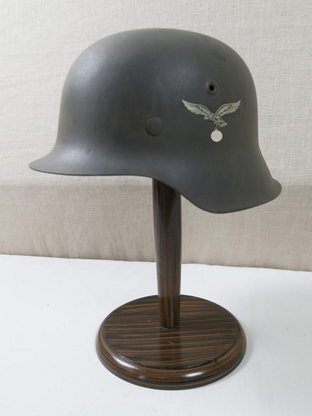 Luftwaffe M42 SD Stahlhelm ET64 Glocke blaugrau mit Helmfutter