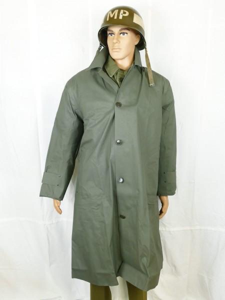 US ARMY WW2 Raincoat Synthetic Resin Coated O.D. Dismounted Regenmantel Regenjacke