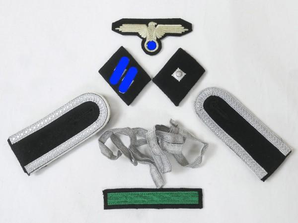 Satz Effekten Abzeichen Waffen Elite Schulterklappen Ärmeladler Kragenspiegel für Unterführer