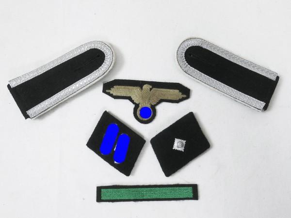 Satz Effekten Abzeichen Waffen Elite Schulterklappen Ärmeladler Kragenspiegel für Unterscharführer