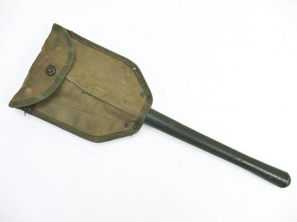 US Army WW2 Klappspaten Spaten 1945 + Spatentasche / Shovel + Cover 1943 Entrenching Tool