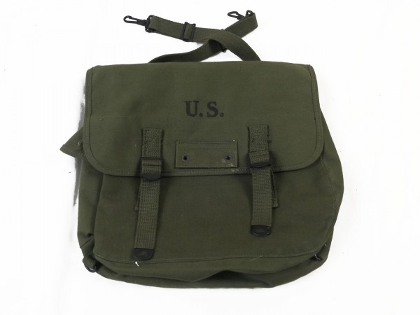Original US Army WW2 M-1936 Musette Bag / Kampftasche Myrna Shoe Inc. 1945