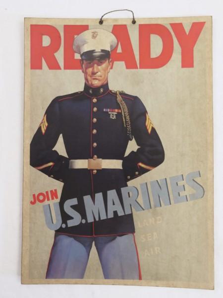 WW2 US Army Join U.S. Marines Werbeplakat Bild aus stabilem Karton