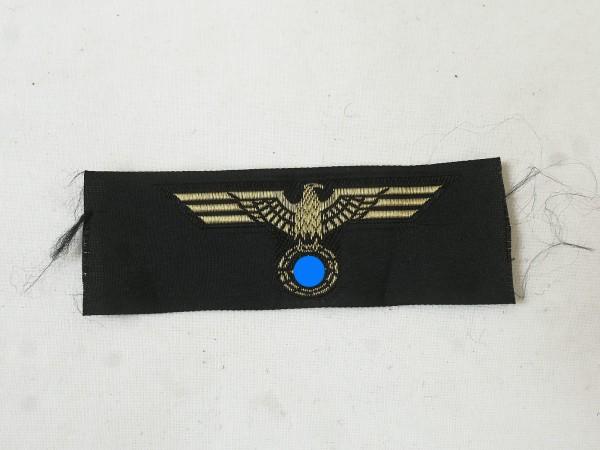 Wehrmacht Kriegsmarine Mützenabzeichen Mützenadler mit Goldfaden gewebt