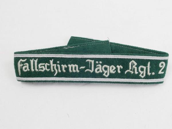 Wehrmacht Ärmelband Fallschirm-Jäger-Rgt. 2 Ärmelstreifen Fallschirmjäger Mannschaften