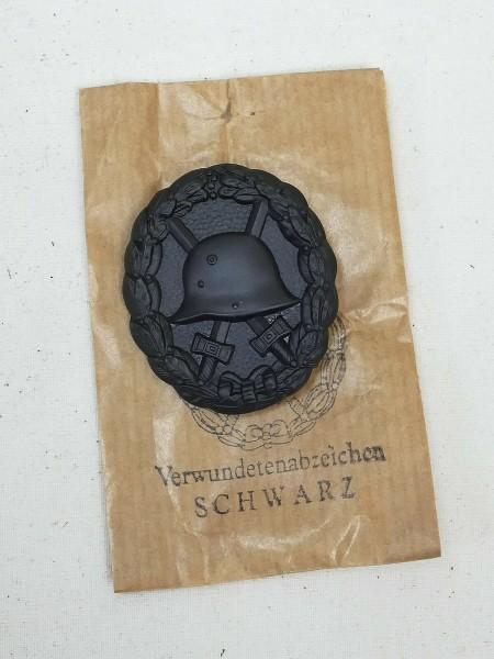 WK1 Verwundetenabzeichen in Schwarz mit Tüte Abzeichen Orden Feldbluse
