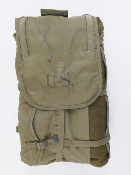 Original WW2 US Haversack Novelty mfg Co 1942 + Type WW2 Wolldecke Aesculap 50er Jahre