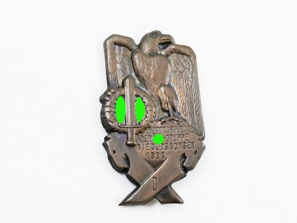 Original Veranstaltungsabzeichen Wettkampftage der SA-Gruppe Niedersachsen 1936