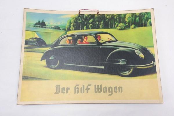 Wehrmacht Vintage Schild Plakat Karton - Der KDF Wagen
