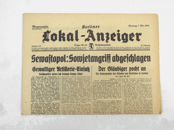 WK2 Vollständige Tageszeitung - Berliner Lokal-Anzeiger 07.Mai 1944 - Morgenausgabe