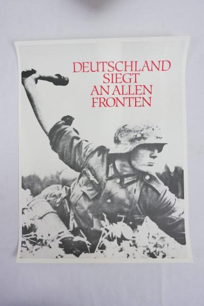 Plakat Poster Wehrmacht - Deutschland siegt an allen Fronten
