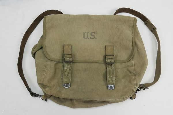 Original US Army M-1936 Musette Bag Kampftasche M36 Khaki Umbau zum Schulranzen