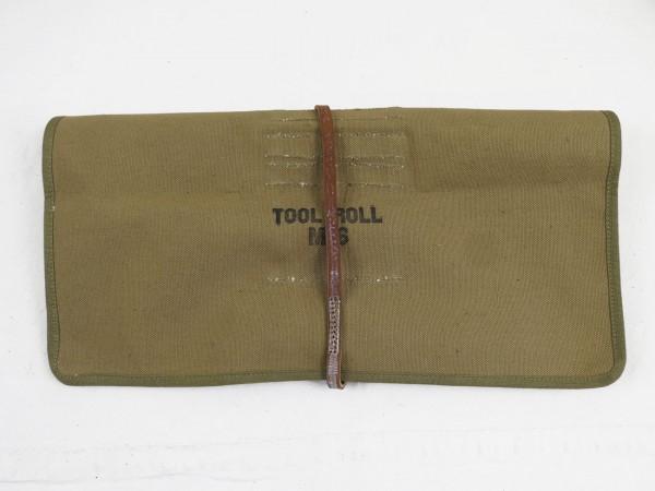 US WW2 M6 Tool Roll Bag Werkzeugtasche mit Inhalt für Cal.50