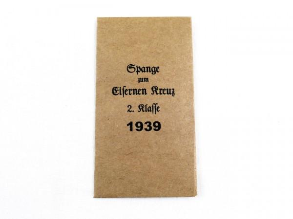 Verleihungstüte für die Spange zum Eisernen Kreuz 2.Klasse 1939 (418)