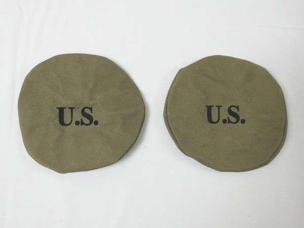 2x US ARMY Canvas Lampe Scheinwerfer Abdeckung COVER Willys Jeep MB M201