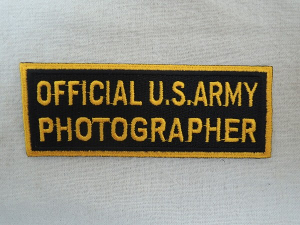 US Army Abzeichen OFFICIAL U.S. ARMY PHOTOGRAPHER