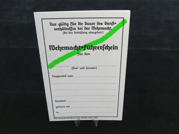 Führerschein Wehrmacht